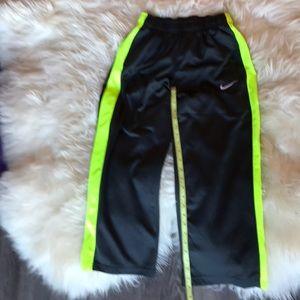 Nike dri fit large green striped training pants